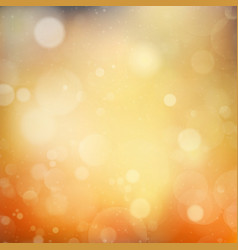 Autumnal natural bokeh with sun EPS 10 vector image