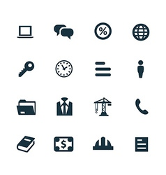 B2b icons set vector