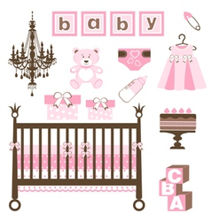 Baby girl set vector