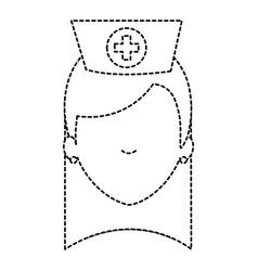 Beutiful nurse head avatar character vector