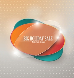 Big sale glass sign Sale and discounts vector image