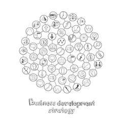 business development round concept vector image vector image