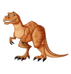 Dinosaur with sharp teeth vector image