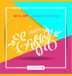 easter egg sale banner background template 27 vector image vector image