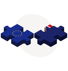 European union and virgin islands british flags vector