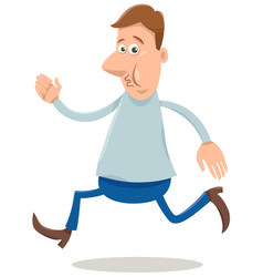 Excited man cartoon vector