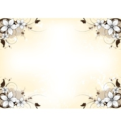 Floral abstract background with flowers vector image vector image