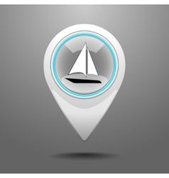 Glossy yachting icon vector