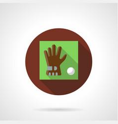 Golf accessories brown round icon vector