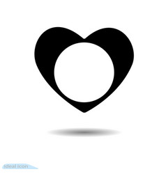 heart icon a symbol of love valentine s day with vector image