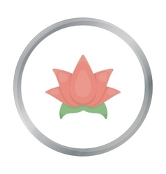 Lotus icon of for web and vector image