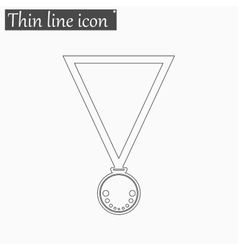 Medal icon Style thin line vector image vector image