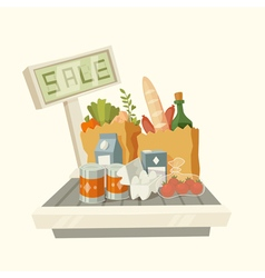 Products with text sale vector