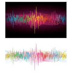 Rainbow Waves vector image