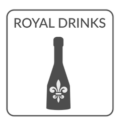 Royal Drinks ign vector image vector image