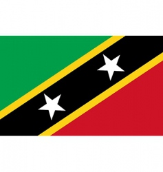 saint kitts and nevis flag vector image vector image