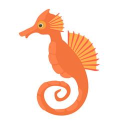 Seahorse icon cartoon style vector