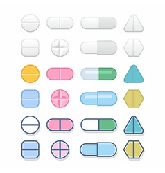 Tablets and pills vector
