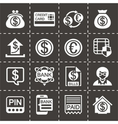 Bank icon set vector