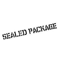 Sealed package rubber stamp vector