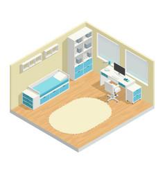 Kids room composition vector