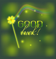 Card with good luck wish vector