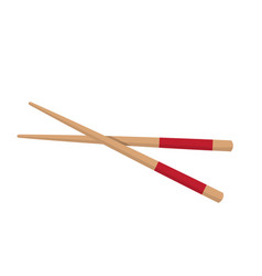 Chopstick japanese icon isolated on white vector