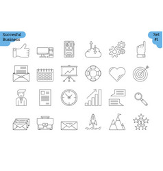 Linear icon set 1 - business vector