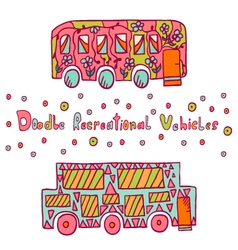 Doodle recreational vehicles-10 vector