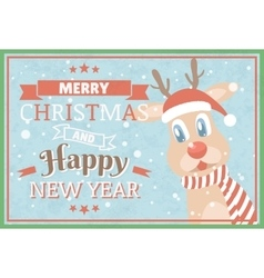 Merry christmas and happy new year christmas vector
