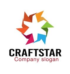 Craft star design vector