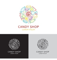 Logo of candy shop vector