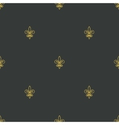 Lily seamless pattern vector