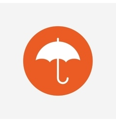 Umbrella sign icon rain protection symbol vector