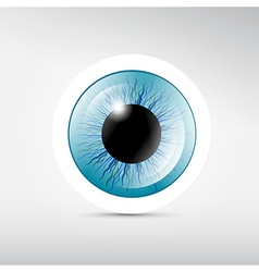Abstract blue eye vector image