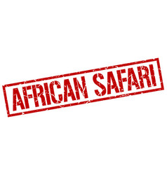 African safari stamp vector
