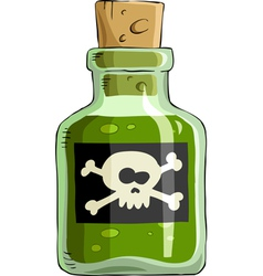 Bottle of poison vector