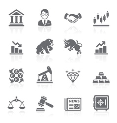 Business and finance stock exchange icons vector image vector image