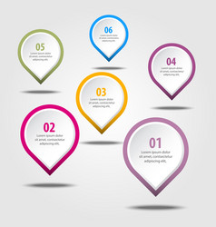Business infographics design elements vector