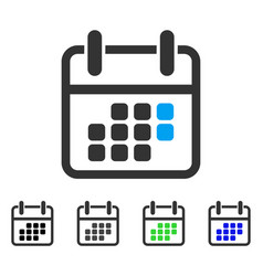 Calendar weekend flat icon vector