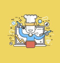 Chef cook nutritionist vector