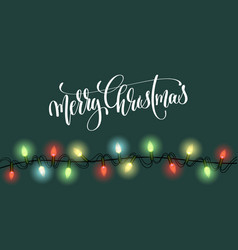 christmas green background with bright realistic vector image
