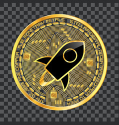 Crypto currency stellar golden symbol vector