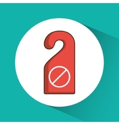 Door label of hotel service design vector