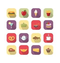 Food design elements vector