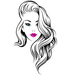 girl hairdress vector image vector image