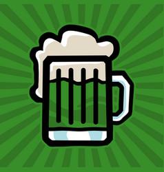 Green irish beer mug icon vector