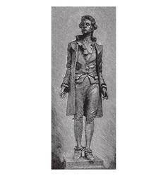 Hale statue vintage vector
