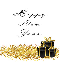 happy new year gold glitter vector image vector image