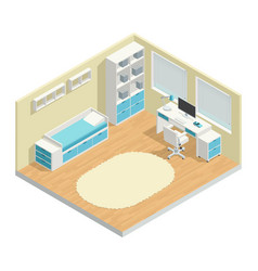 Kids room composition vector